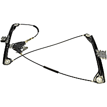 749-745 Front, Passenger Side Power Window Regulator, Without Motor