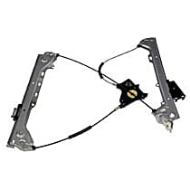 Front, Passenger Side Power Window Regulator, Without Motor - Coupe