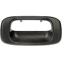76106 Tailgate Handle Bezel, Smooth Black