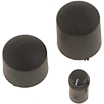 Dorman 76877 Dash Knob Kit - Black, Plastic, Direct Fit