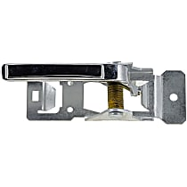 Interior Door Handle, Chrome Front or Rear, Driver Side