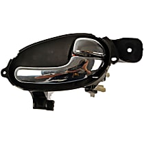 79531 Front or Rear, Passenger Side Interior Door Handle, Black bezel with chrome lever
