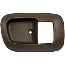 Front, Passenger Side Door Handle Trim, Brown