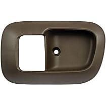 80533 Front, Driver Side Door Handle Trim, Brown