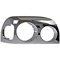 889-5211 Headlight Bezel - Chrome, Direct Fit, Sold individually