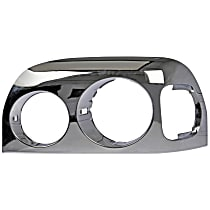 889-5212 Headlight Bezel - Chrome, Direct Fit, Sold individually