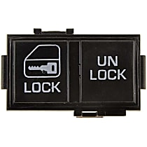 901-007 Door Lock Switch - Black, Direct Fit, Sold individually