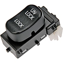 Door Lock Switch - Black, Plastic, Direct Fit, Sold individually