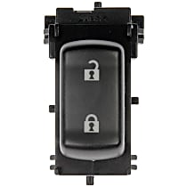 Door Lock Switch - Black, Direct Fit, Sold individually