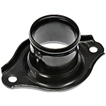 Thermostat Housing - Black, Metal, Direct Fit, Sold individually