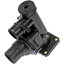 Dorman 902-215 Thermostat Housing - Black, Plastic, Direct Fit, Assembly