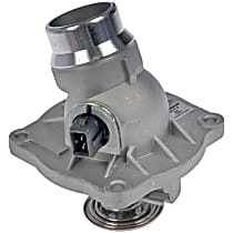 902-819 Thermostat Housing - Silver, Aluminum, Direct Fit, Sold individually