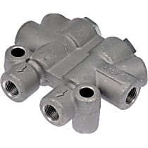 905-907 Brake Proportioning Valve - Gray and silver/zinc-plated, Aluminum and Steel, Direct Fit, Sold individually