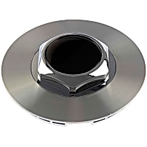 909-004 Hub Cap - Brushed Aluminum, Plastic, Direct Fit, Sold individually