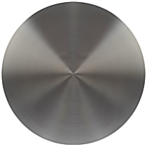 909-005 Hub Cap - Brushed Aluminum, Plastic, Direct Fit, Sold individually