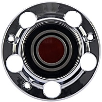 909-038 Hub Cap - Chrome, Plastic, Direct Fit, Sold individually