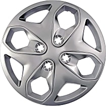 Dorman 910-107 Hub Cap - Gray, Plastic, Direct Fit, Sold individually