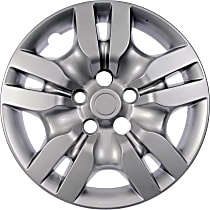 Hub Cap - Gray, Plastic, Direct Fit, Sold individually
