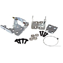 Door Hinge - Front, Driver Side, Chrome, Direct Fit, Sold individually