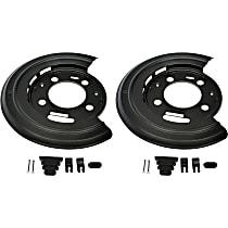 924-212 Brake Dust Shields - Black, Steel, Direct Fit Rear, Set of 2