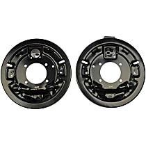 924-218 Brake Dust Shields - Black, Steel, Direct Fit Rear, Driver and Passenger Side, Set of 2
