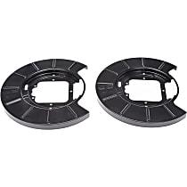 924-219 Brake Dust Shields - Black, Steel, Direct Fit Rear, Set of 2