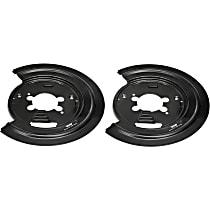 924-225 Brake Dust Shields - Black, Steel, Direct Fit Rear, Set of 2