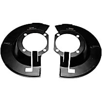 Dorman 924-228 Brake Dust Shields - Black, Steel, Direct Fit Front, Set of 2