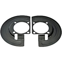 Brake Dust Shields - Black, Steel, Direct Fit Front, Set of 2