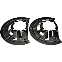 Dorman 924-491 Brake Dust Shields - Black, Steel, Direct Fit Front, Driver or Passenger Side, Set of 2