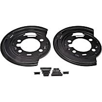 Brake Dust Shields - Black, Steel, Direct Fit Rear, Set of 2