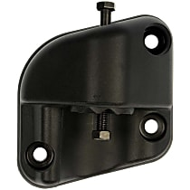 Mirror Hardware - Black, Direct Fit, Sold individually Driver Side, Lower