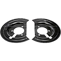 Dorman 924-684 Brake Dust Shields - Black, Steel, Disc, Direct Fit Front, Set of 2