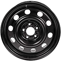 Black Finish Wheel - 17 in. Wheel Diameter X 7.5 in. Wheel Width