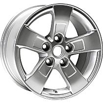 939-611 Light Gray Finish Wheel - 16 in. Wheel Diameter X 7.5 in. Wheel Width