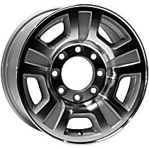 Silver Finish Wheel - 17 in. Wheel Diameter X 7.5 in. Wheel Width