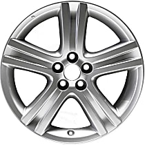 Silver Finish Wheel - 17 in. Wheel Diameter X 7 in. Wheel Width