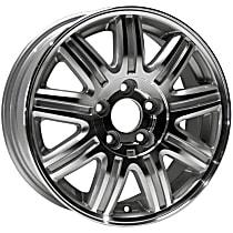 939-652 Silver Finish Wheel - 16 in. Wheel Diameter X 6.5 in. Wheel Width