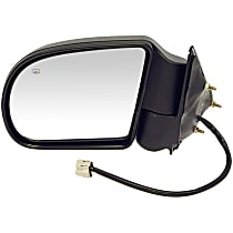 Driver Side Heated Mirror - Power Glass, Power Folding, Black