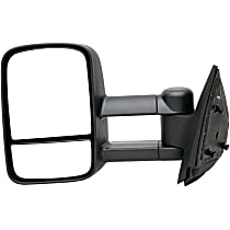 955-1849 Driver Side Non-Heated Mirror - Manual Glass, Manual Folding, Without Signal Light, Without memory, Black