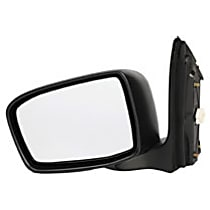 955-942 Driver Side Heated Mirror - Power Glass, Manual Folding, Without Signal Light, Without memory, Black