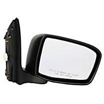 955-943 Passenger Side Heated Mirror - Power Glass, Manual Folding, Without Signal Light, Without memory, Black