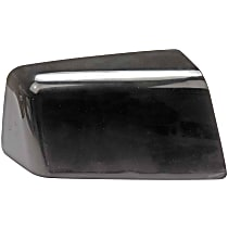 Mirror Cover - Passenger Side, Black, Plastic, Direct Fit, Sold individually