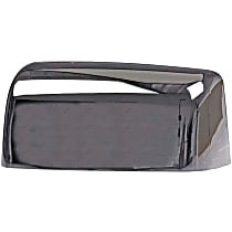 Mirror Cover - Driver Side, Chrome, Plastic, Direct Fit, Sold individually