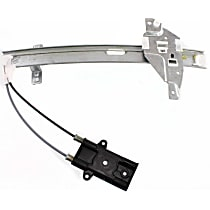 Window Regulator - Rear, Driver Side, Power with Motor