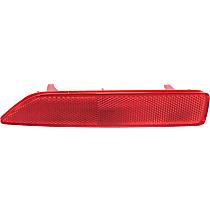 Rear, Driver Side Bumper Reflector