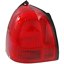 Driver Side Tail Light, Without bulb(s) - Red Lens, CAPA CERTIFIED