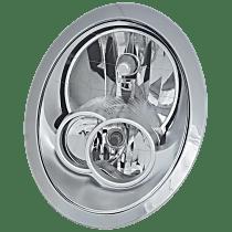 Passenger Side Halogen Headlight, With bulb(s) - w/o Headlight Washer