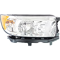 Passenger Side Headlight, With bulb(s) - 06-08 Forester, w/o Sport Package Model