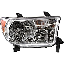 Passenger Side Headlight, With bulb(s) - 08-18 Sequoia / 07-13 Tundra (09-13 w/o Level adjuster)